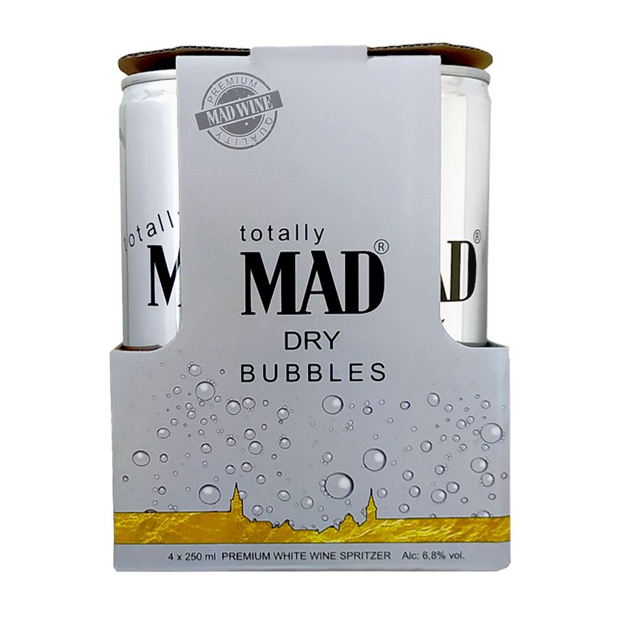 MAD BUBBLES - 4-es csomag száraz dobozos fröccs (4x0,25l)