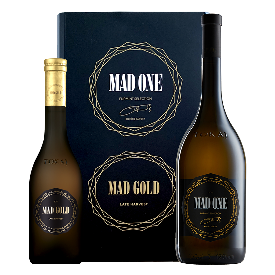MAD ONE száraz 2018 - 0,75 l. +  MAD GOLD édes 2017 - 0,375 l.