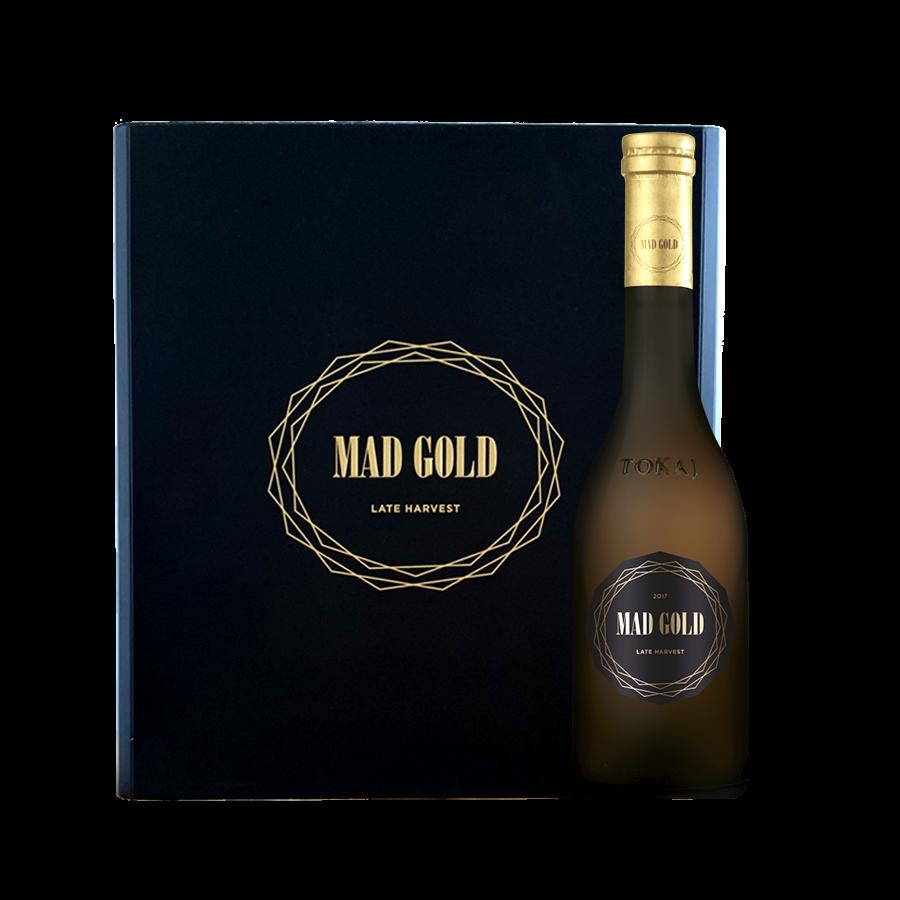 3 db MAD GOLD édes - 2017 / 0,375 l - exkluzív egyedi díszdobozban